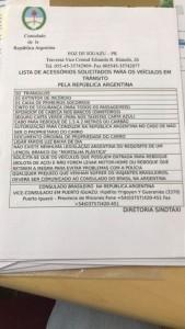 OBRIGATORIEDADE PARA ENTRAR NA ARGENTINA